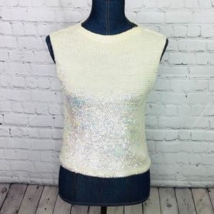 VINTAGE: Sequin Party Top